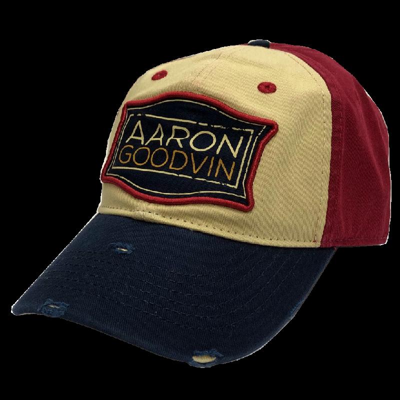 Aaron Goodvin Khaki, Red and Navy Ballcap