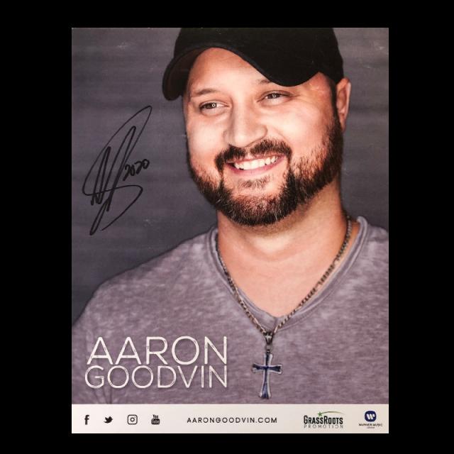 Aaron Goodvin Signed 8x10