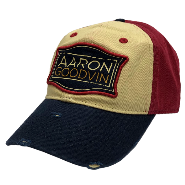 Aaron Goodvin Khaki, Red and Navy Ballcap